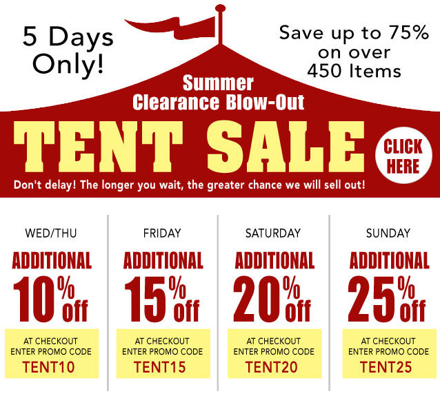 Starting Wednesday all items in the Clearance Section on our website will be further reduced each day until they are sold out or until Sunday at midnight ...  sc 1 st  Router Forums & Summer Clearance Blow-Out TENT SALE - Save up to 75% on over 450 ...